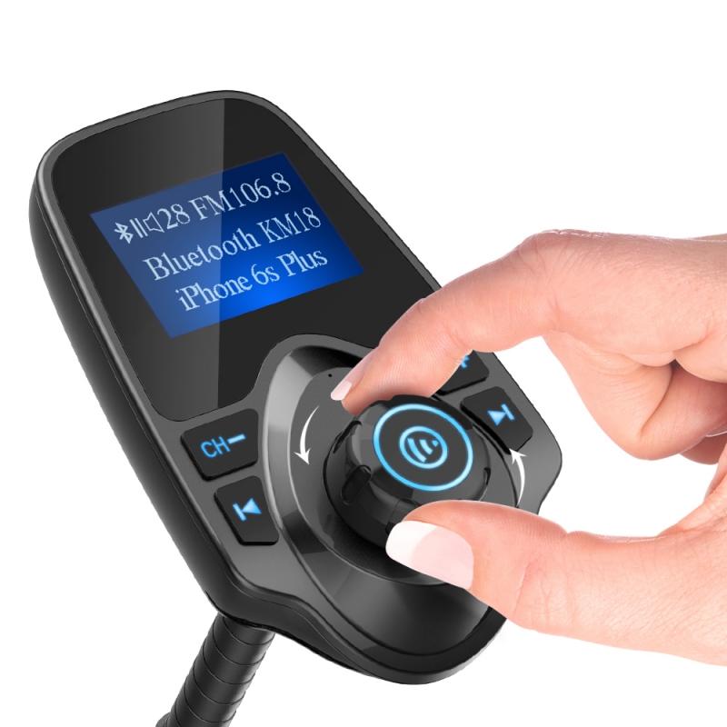 Nulaxy Wireless In-Car Bluetooth FM Transmitter Radio Adapter Car Kit W 1.44